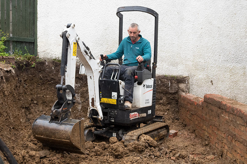 mini digger and driver hire Swansea